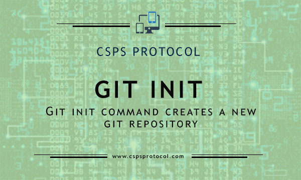 git init - creates git repository step by step