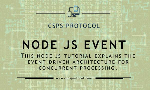 Node js event driven architecture