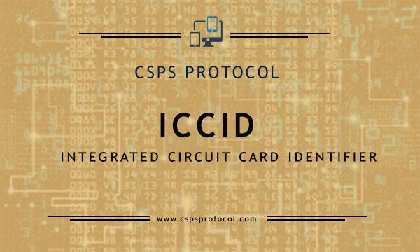ICCID Number - A unique sim card number printed on sim