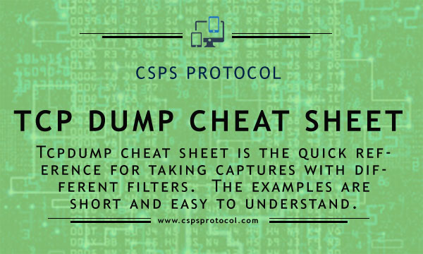 tcpdump cheat sheet