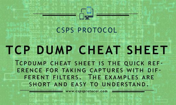 tcpdump cheat sheet