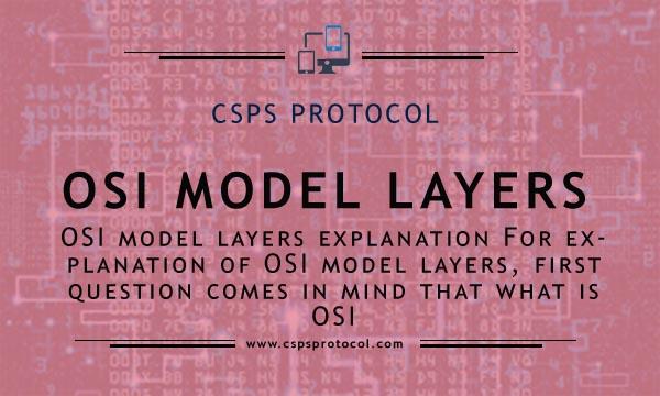 osi model layers explanation