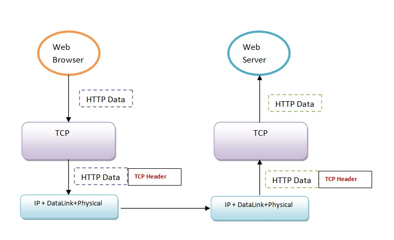 TCP header in message