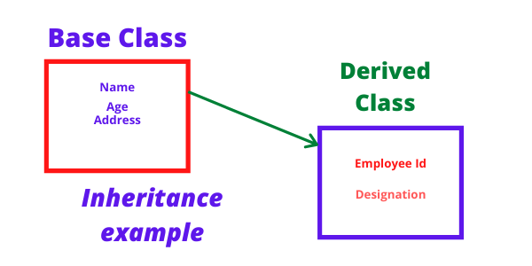 Base and Derived Class Example in Python